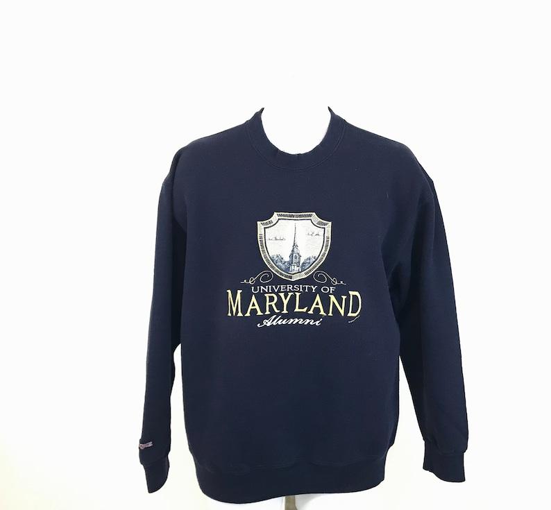 Vintage University of Maryland Terrapins Alumni Sweatshirt Jansport Adult Size XL