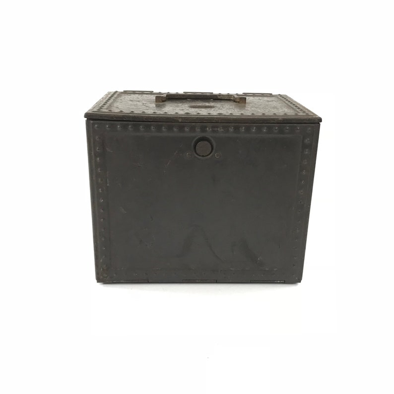 Vintage Metal Box, Seed Drying Cabinet, Metal Tool Box Opens Unfolds,  Industrial Storage, Square Rusty Metal Storage Box, Industrial Decor