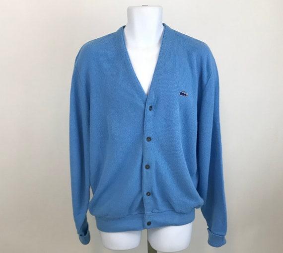 8b741237654 Vintage Izod Lacoste Cardigan Sweater Men s XL Izod