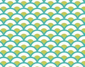 Green Scallops Sushi Collection By Deborah Edwards For Northcott Fabrics
