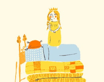 Heather Ross 20th ANNIVERSARY Collection Yellow Princess and the Pea By Windham Fabric
