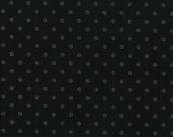Shiny Objects Precious Metals Spot On Radiant Black Metallic By RJR Fabric