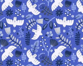 Marbella Free As A Bird Sky High By Cotton And Steel Sold By Half Yard