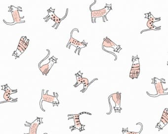 Feline Myself Cream Feline Myself Collection By Dear Stella Fabrics, Cats, Cat Lady, Cat Lover