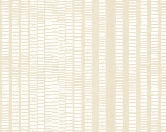 Fat Quarter By the Seaside High Tide Parchment Unbleached White Pigment By RJR Fabric