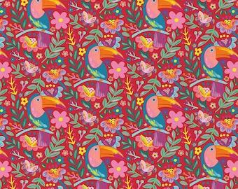 Viva Mexico! Tucan Red By Deborah Curiel For Paintbrush Studio Fabrics