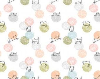 Fat Quarter Cathletic White By Dear Stella Fabrics
