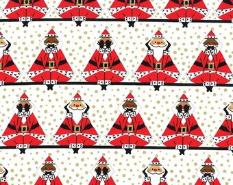 Fat Quarter Three Wise Santas By Michael Miller Fabrics Sold By Half Yard