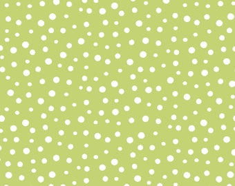 Irregular Dots Kiwi/White By World of Susybee