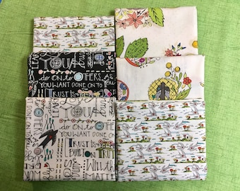 Bubbie's Buttons and Blooms Bubbie-isms Truffle By Windham Fabrics Fat Quarter Bundle of 10