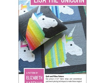 Lisa The Unicorn Quilt And Pillow Pattern By Elizabeth Hartman, Unicorn Lover