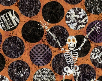 "16"" x 42"" Halloween Skeleton By Tim Coffey By Springs Creative Fabrics"