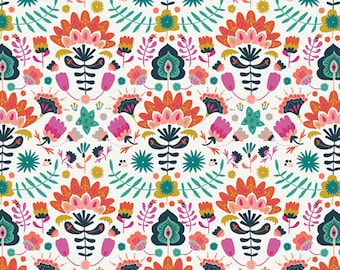Fat Quarter Efflorescent Vivid Lugu Collection By Art Gallery Fabrics
