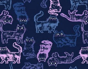 "13"" x 44"" Meow Mix Cats Insignia By Dear Stella Fabrics"