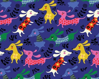 """17"""" x 44"""" Make Today Awesome Dogs Blue By Clothworks"""