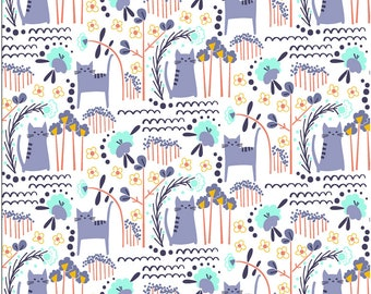 Fat Quarter Glory Elsies Cat Summer For Cotton And Steel