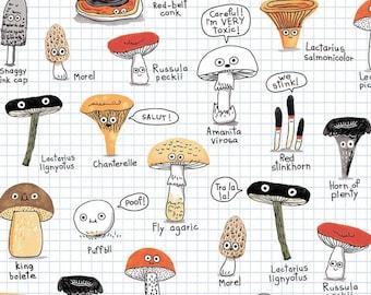 Fat Quarter The Mushroom Fan Club Forage Finds By Michael Miller