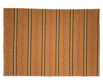 """Two 6"""" x 9"""" Brown Stripes Cotton Fabric"""