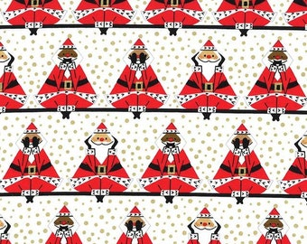 Three Wise Santas By Michael Miller Fabrics Sold By Half Yard