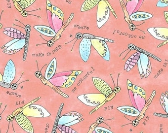 """10"""" x 10""""  Potpourri Nectar Flying Critters By Laura Heine For Windham Fabrics"""