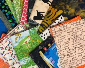 26 Piece Fabric Scraps Bundle #201