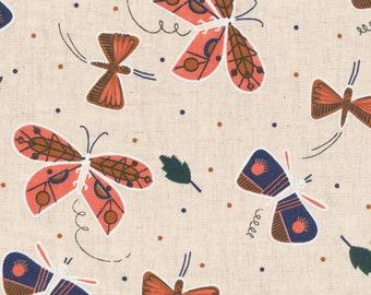 Fat Quarter Flutter Plant Peeps By Meenal Patel Multi Cloud9 Fabrics, Organic Cotton
