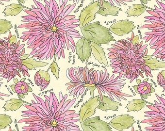 Potpourri Peony Chrysanthemums By Laura Heine For Windham Fabrics