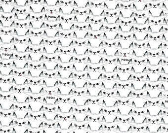 Cat Clique Black And White Collection By Michael Miller Fabrics Sold By Half Yard