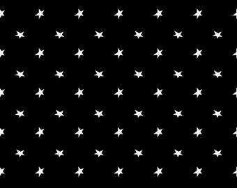 Fat Quarter A Haunting We Will Glow Glow In The Dark Tossed Stars By Henry Glass Fabric