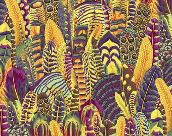 Fat Quarter Feathers Gold Kaffe Fassett Collective Stash Collection By Free Spirit Sold By Half Yard