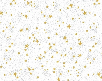 Stardust White Honey Bee Collection By Dear Stella Fabrics Sold By Half Yard