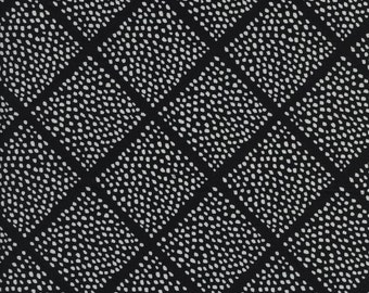 Fat Quarter Lattice Dots Black And White Collection By Sarah Watts for Cotton & Steel Fabrics