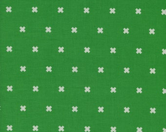 Xoxo Shamrock Unbleached Cotton Fabric By Cotton And Steel