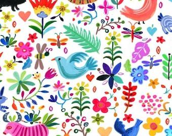 "11""x42""   Ole' Viva Mexico! August Wren By Dear Stella Fabrics"