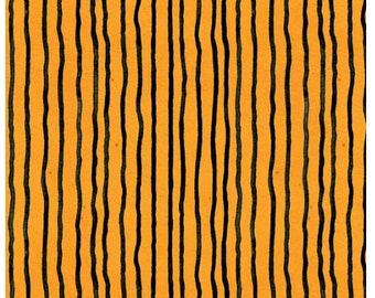 Goose Tales Wavy Stripes Orange By Riley Blake Fabrics,  Halloween