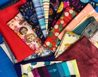 23 Piece Fabric Scrap Bundle #204
