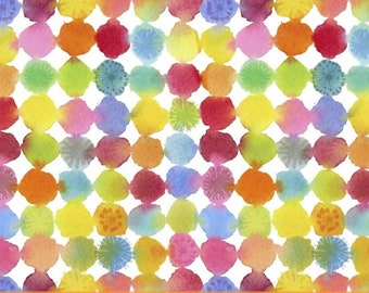 Fat Quarter Rainbow Dots Rain Or Shine By Maria Carluccio From Windham
