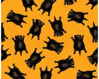 Fat Quarter Goose Tales Scaredy Cats Toss Orange By Riley Blake Fabrics,  Halloween