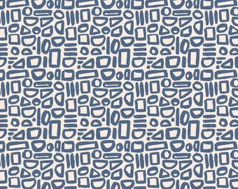 Feel the Void Contour Barcelona Blue For Cotton And Steel Sold By Half Yard