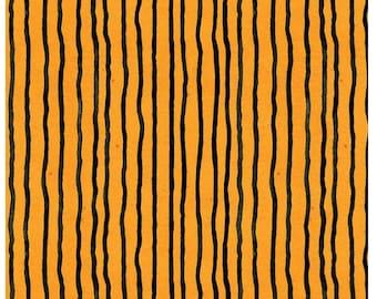 Fat Quarter Goose Tales Wavy Stripes Orange By Riley Blake Fabrics,  Halloween