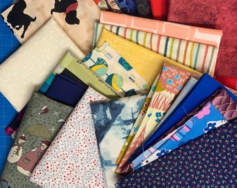 23 Piece Scrap Fabric Bundle #203