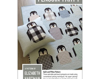 Penguin Party Quilt and Pillow Pattern By Elizabeth Hartman, Penguin Lover