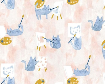 Creative Cats Painting Class By Dear Stella Sold By Half Yard