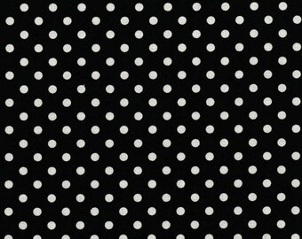 Dumb Dot Black By Michael Miller Fabrics Sold By Half Yard