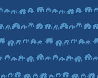 Fat Quarter Elephants Echo Electric Selva Collection By Art Gallery Fabrics