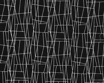 Atomic Web Black Black And White Collection By Michael Miller Fabrics Sold By Half Yard