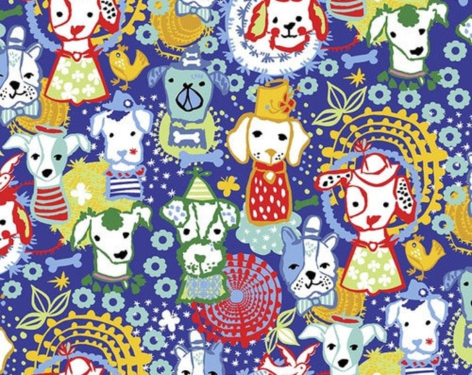 Featured listing image: Party Hat Parade Primary Woof & Wags Collection By Free Spirit Sold By Half Yard Dogs