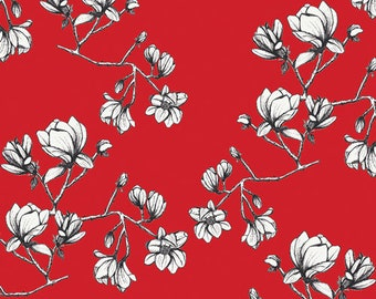 Magnolia Study Silkroad Silkroad Fusion Collection By Art Gallery Fabrics Sold By Half Yard