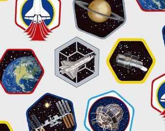 Fat Quarter Planetary Missions Patches By Studio E Fabrics