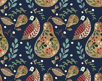 12 Days of Christmas A Partridge Blue By Northcott